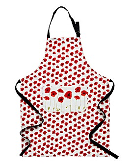 Poppies Cotton Apron