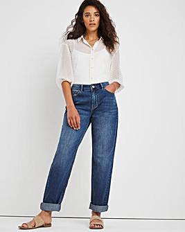 Riley Blue Vintage Non Stretch Slouch Boyfriend Jeans