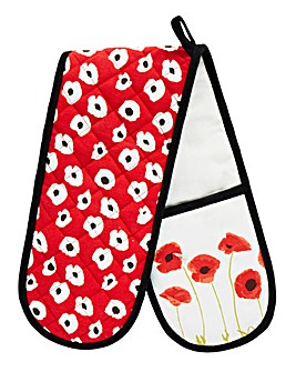 Poppies Double Oven Glove
