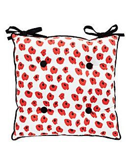 Poppies Set of 2 Reversible Seat Pads