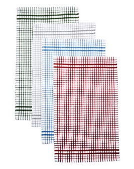 Set of 4 Classic Terry Tea Towels
