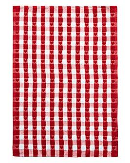 Textured Heart Terry Tea Towel Pair