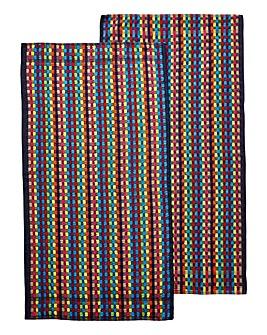 Multicolour XL Utility Towel Pair