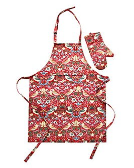 Strawberry Thief Apron & FREE Oven Mitt