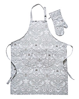 Strawberry Thief Apron & FREE Oven Mitt