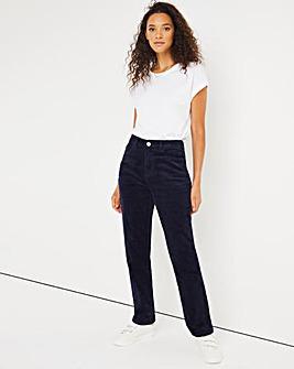 Navy Stretch Cord Straight Leg Jeans