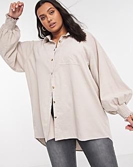 Ecru Lightweight Baby Cord Shirt