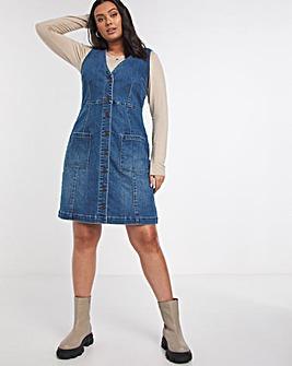 Blue Vintage Denim Pinafore Dress