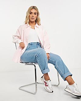 Esme Stonewash High Waist Straight Leg Jeans