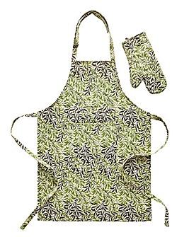 William Morris Apron & FREE Oven Mitt