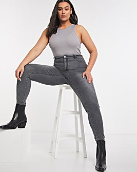 Soft Grey Cloud Soft Touch Skinny Jeans