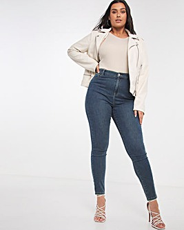 Vintage Blue Cloud Soft Touch Skinny Jeans