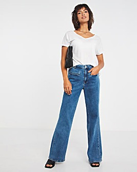 Stonewash Relaxed Flare Jeans