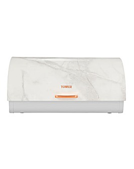 Tower Marble & Rose Gold Roll Top Bread Bin