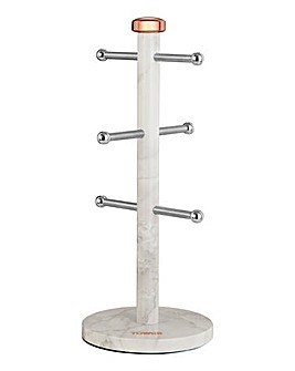 Tower Marble Mug Tree & Towel Pole