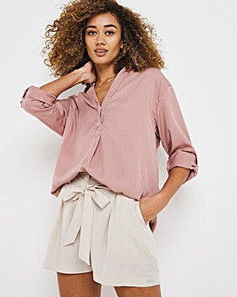 Soft Pink Lyocell Relaxed Tunic