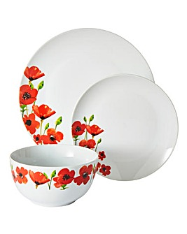 Poppies 12 Piece Dinner Set