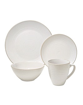 Ripple 16 Piece Stoneware Dinner Set