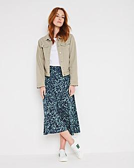 Julipa Pull On Panelled Skirt 27in