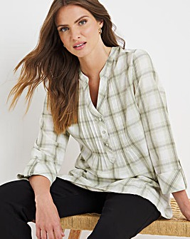 Julipa Check Pintuck Shirt
