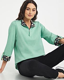 Julipa Leisure Zip Front Sweatshirt