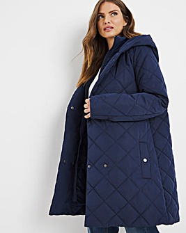 Julipa Padded Jacket with Wrap Front