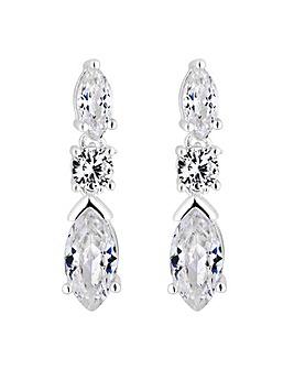Jon Richard Mini Navette Drop Earrings