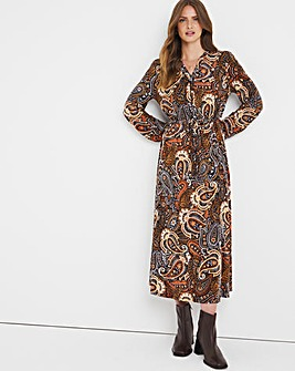 Julipa Drawstring Waist Jersey Dress