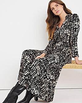 Julipa Scratch Print Jersey Shirt Dress
