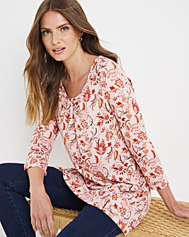 Julipa Floral Round Neck Jersey Tunic
