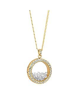 Jon Richard Gold Crystal Shaker Necklace