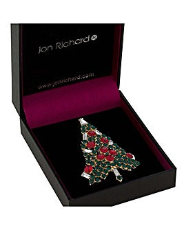 Jon Richard Christmas Tree Brooch