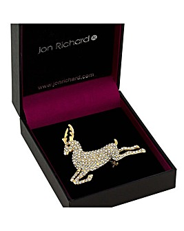 Jon Richard Gold Pave Reindeer
