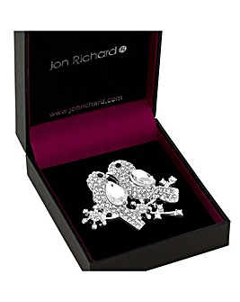 Jon Richard Crystal Robin Brooch
