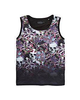 Label J Floral Dip Vest Regular
