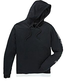 Label J Print Sleeve Hood Sweat Long