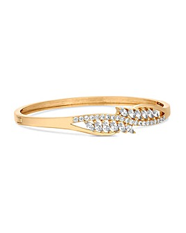 Jon Richard Gold Navette Twist Bangle
