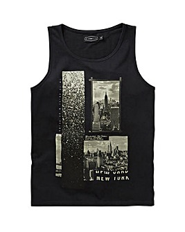 Label J City Print Vest Regular