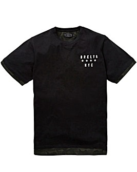 Label J Longline Camo Trim Print Tee