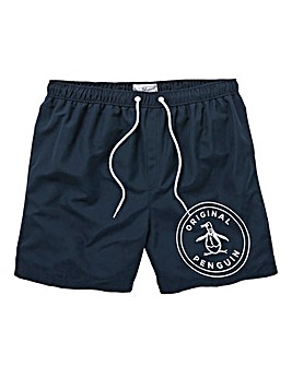 Original Penguin Stamp Logo Swimshorts