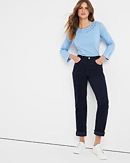 Julipa Cord Straight Leg Jean