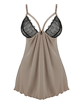 Simply Be Paris Rouge Lola Satin & Lace Babydoll
