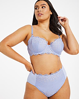 Broderie Cotton Balcony Bra
