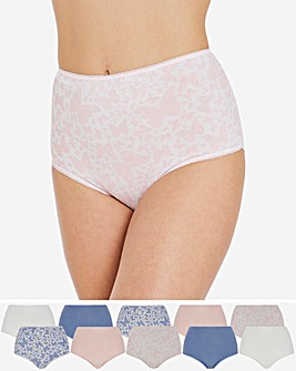Pretty Secrets 10 Pack Full Fit Cotton Briefs