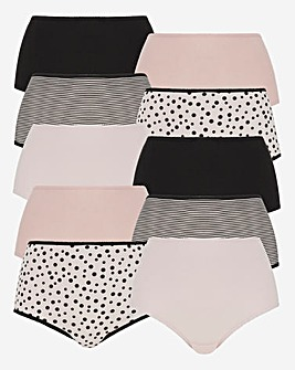 10 Pack Full Fit Cotton Briefs