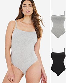 2 Pack Cotton Comfort Body Bandeu