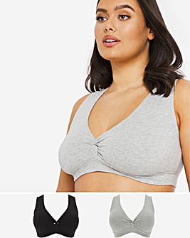 Pretty Secrets 2 Pack Cotton Comfort Twist Crop Top