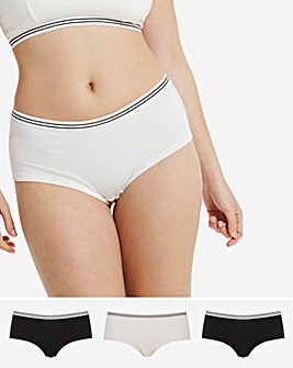 3 Pack Striped Elastic Shorts