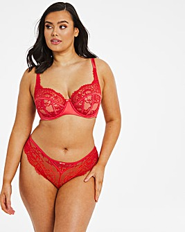 Pretty Secrets Contemporary Satin & Lace Bra