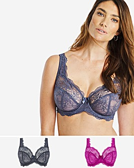 Pretty Secrets 2 Pack Ella Lace Full Cup